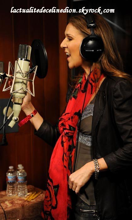 Céline en studio !