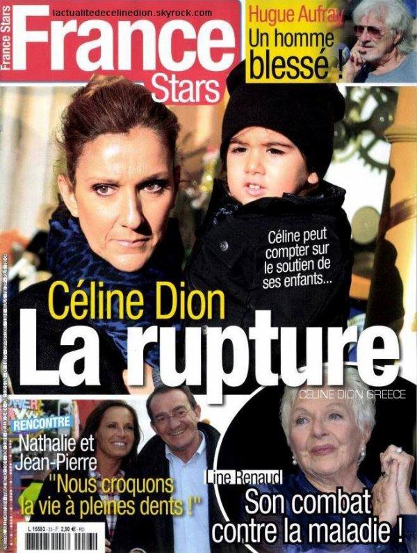 """Céline Dion sur la couverture du magazine """"France Stars"""" (édition de Juillet)!"""