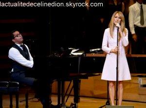 Céline Dion, avec émotion