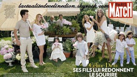 Photo de famille pour Céline Dion et Julie Snyder