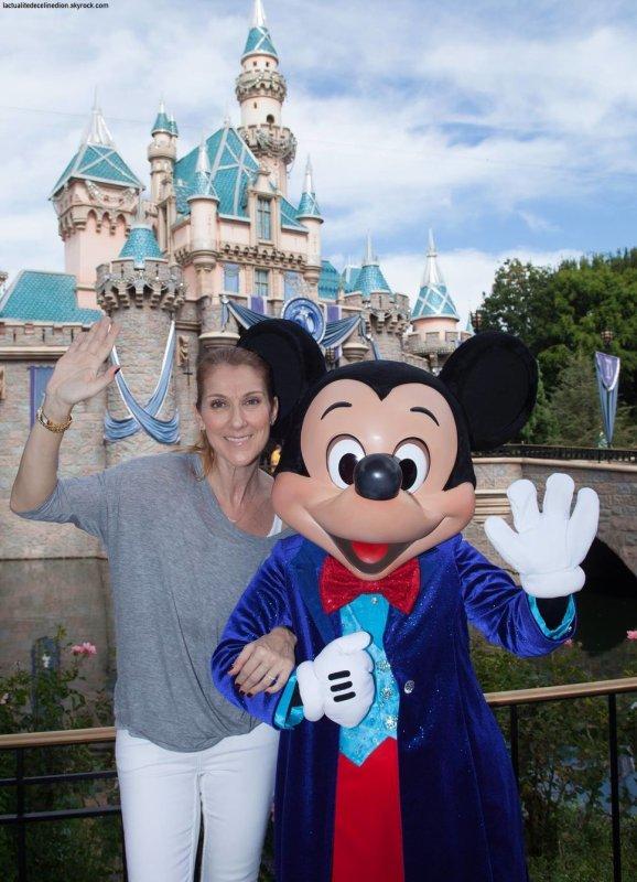 Céline Dion à Disney avec ses jumeaux