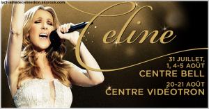 Retour exceptionnel de Céline à Montréal et à Québec pour 6 spectacles aux mois de juillet et août 2016 !