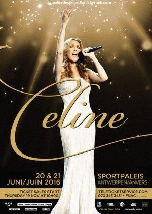 Céline sera de retour au Sportpaleis d'Anvers en juin 2016!