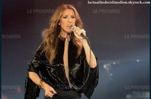 Céline Dion en concert au Parc OL le 12 juillet