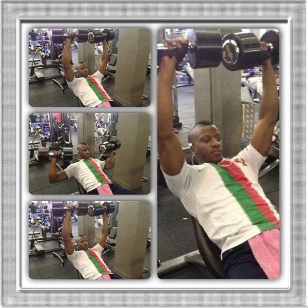 A la salle de Fitness