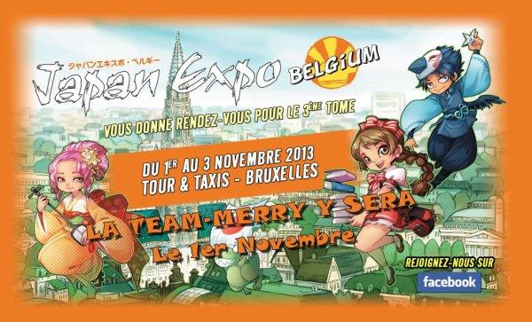 Le 1er Novembre nous serons en belgique à la Japan Expo.