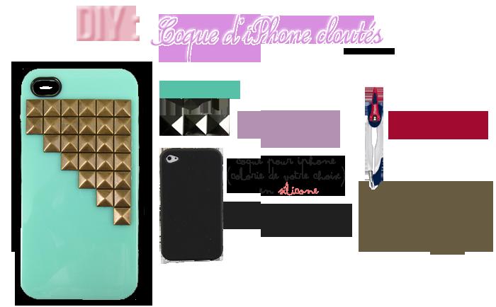 DIY: Coque d'iPhone cloutés