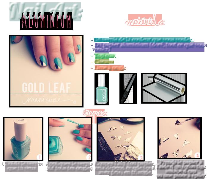 ▲ Nail art: Aluminium