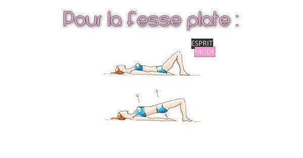 Fesses bien fermes et rebondies… Vive les exercices !