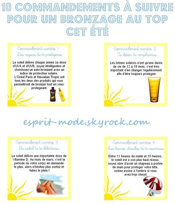 10 COMMANDEMENTS À SUIVRE POUR UN BRONZAGE AU TOP CET ÉTÉ
