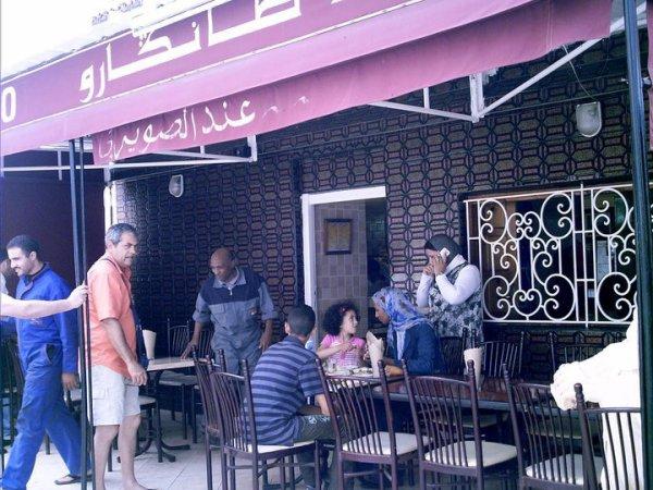 restaurant marocain a l'entrée du quartier changai; fédala