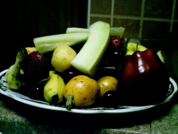 l'art et la manière marocaine de présenter des fruits!!!