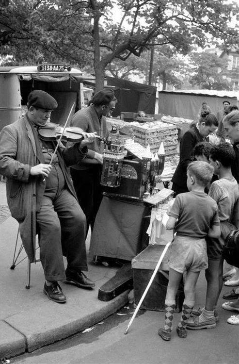 musicien  Montmartre  1957  !!!