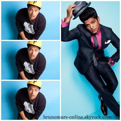 Bruno pose pour le Magazine GQ.