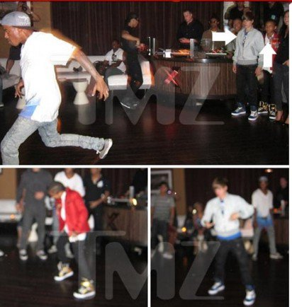 Justin biber et Jaden smith sur la danse floor - photo