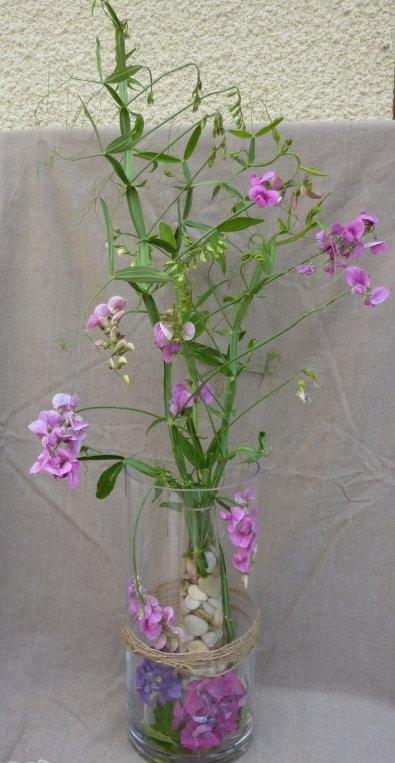 Galets et fleurs