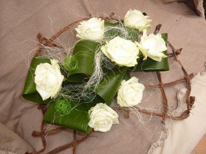 Roses sur quadrillage