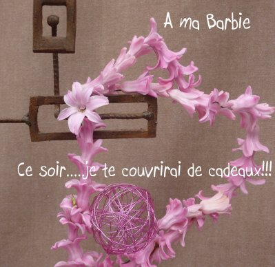 "Coeur ""rose Barbie"" !!!!!"