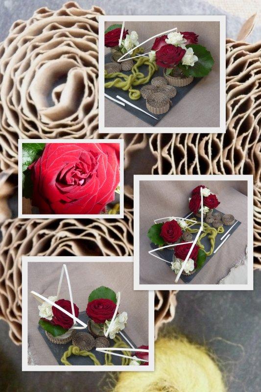 Des roses ......du carton......