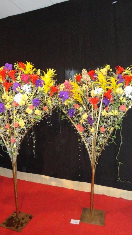 Week end floral à Agneaux : réalisations des invités