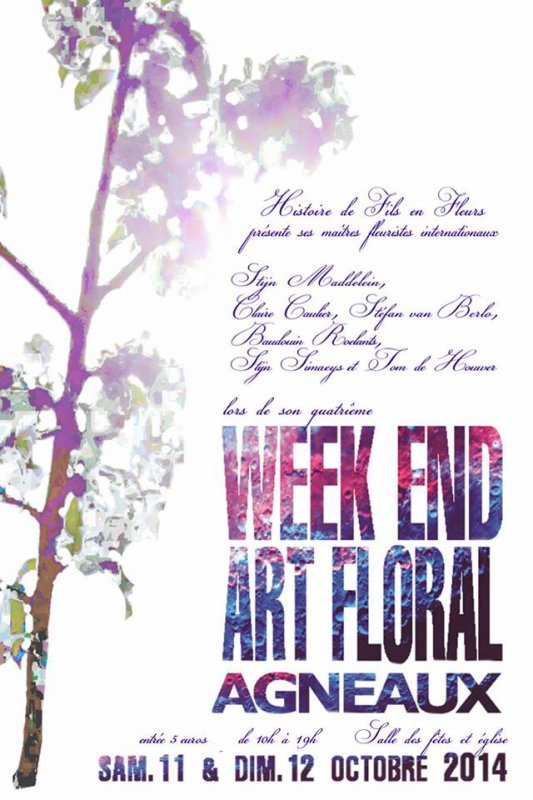 Week end art  floral Agneaux 2014