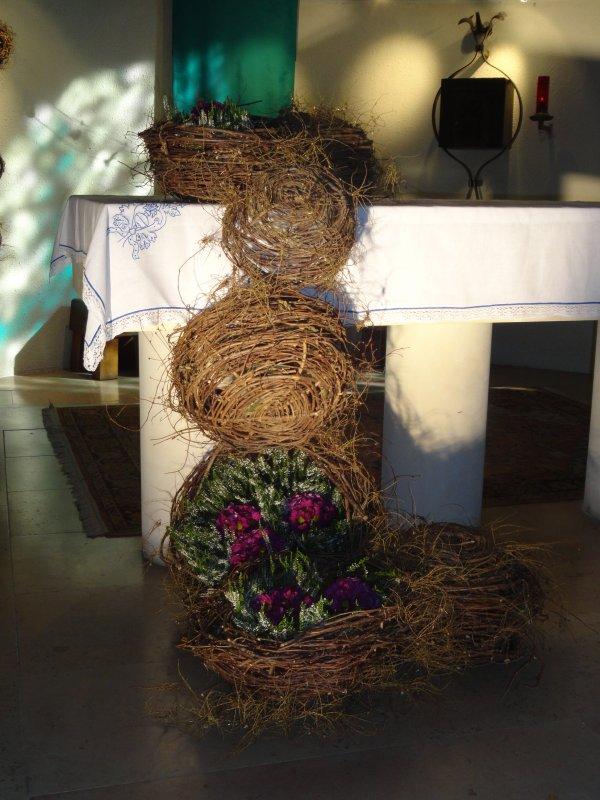 Week end art  floral Agneaux 2014 , dans l'église