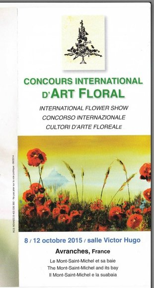 Concours international d'art floral à Avranches (50)