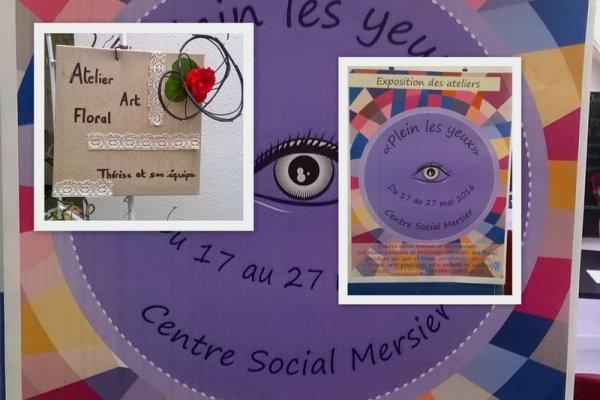 Exposition des ateliers  du centre social Mersier
