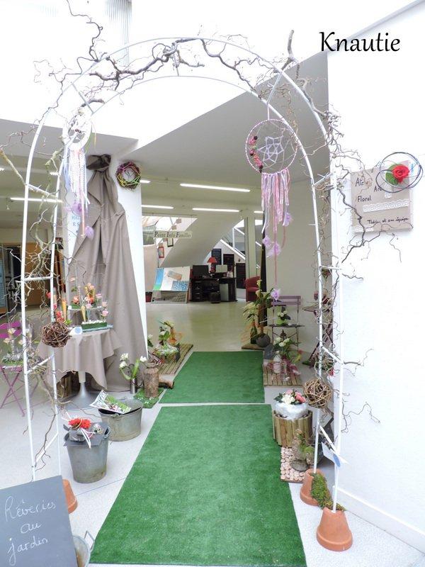 """Exposition  au  Centre social Mersier  """" Entrée du jardin """""""