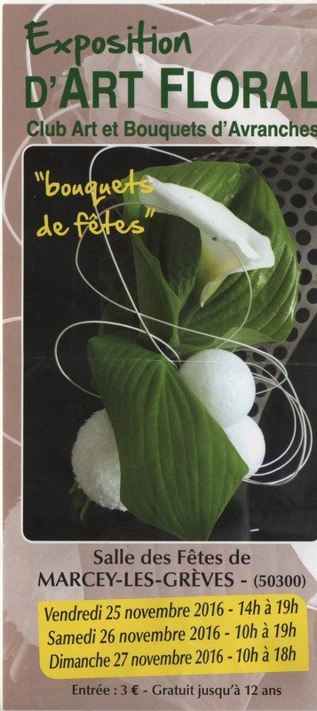 Prochainement ......expo d'art floral