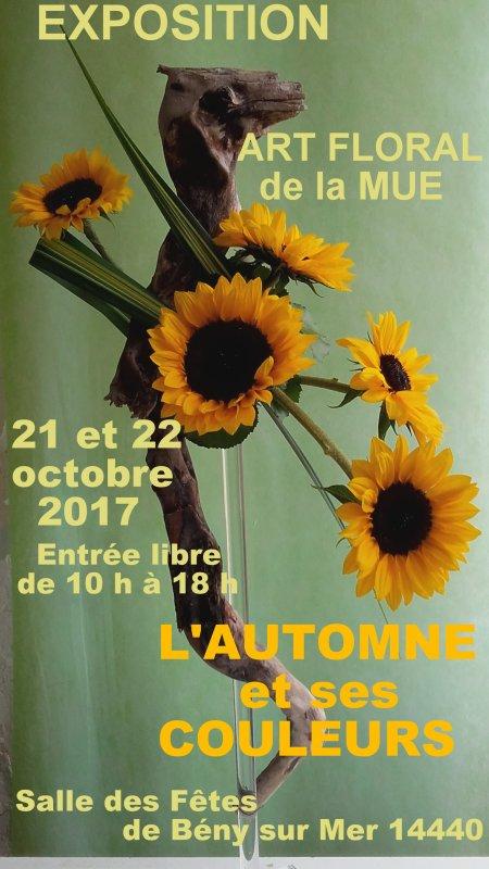 """A vos agendas : """"Exposition d'art floral de l' atelier de La Mue"""""""