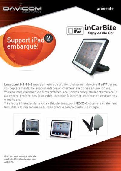 support  pour iPad2  Envoi sur demande   03 88 66 39 30  www.garage-georges.com