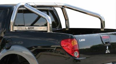 ROLL BAR INOX DBL TUBE  pour  MITSUBISHI L200 06+ AVEC MARQ