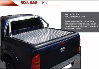 ROLL BAR INOX Ø 63 COMPATIBLE T.COVER UPSTONE VOLKSWAGEN
