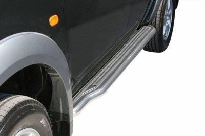 MARCHE-PIEDS INOX  pour  MITSUBISHI L200 2006+ XTRA CAB