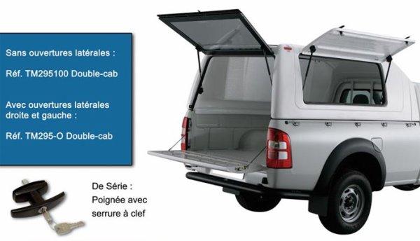 HARD TOP TOIT HAUT UTILITAIRE FORD RANGER 2012+ DOUBLE CAB AV  avec ouverture