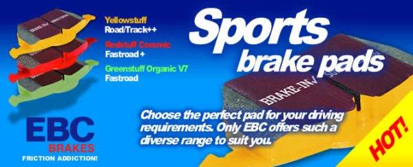 Exigez le Meilleur ! EBC Brakes un leader mondial dans le sport, de haute performance