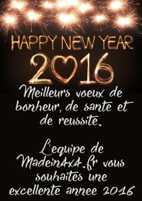 Bonne et Heureuse nouvelle Année 2016