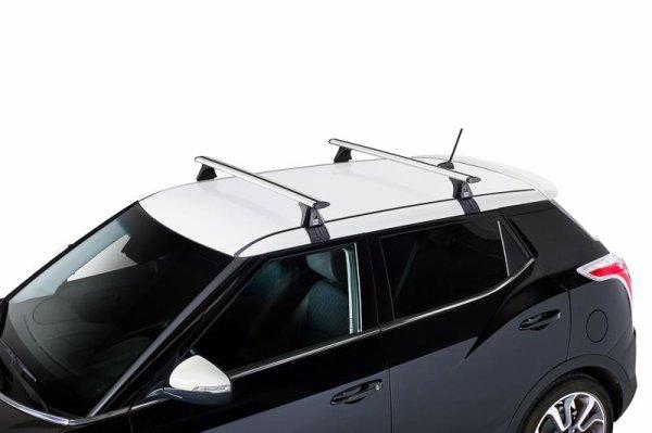 BARRES TRANSVERSALES AERODYNAMIQUES FIAT 500X CROSS 5P ALU (PAIRE COMP ORIGINE)