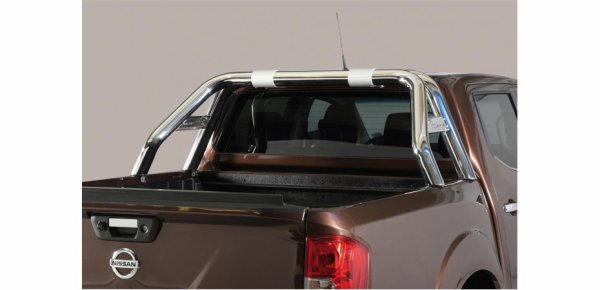 Nouveau !  ROLL BAR INOX DBL TUBE INOX NEW STYLE pour  NISSAN NP300 DOUBLE CAB 2016+