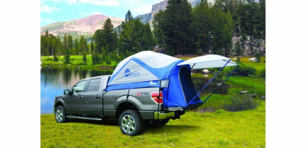 Tente NAPIER Sports bleue sur benne double cabine   tous pick up double cabine