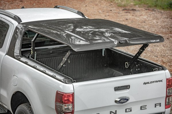 NOUVEAU ! COUVRE BENNE MULTIPOSITION TOP UP POUR FORD RANGER WILDTRAK SUPER CABINE T6