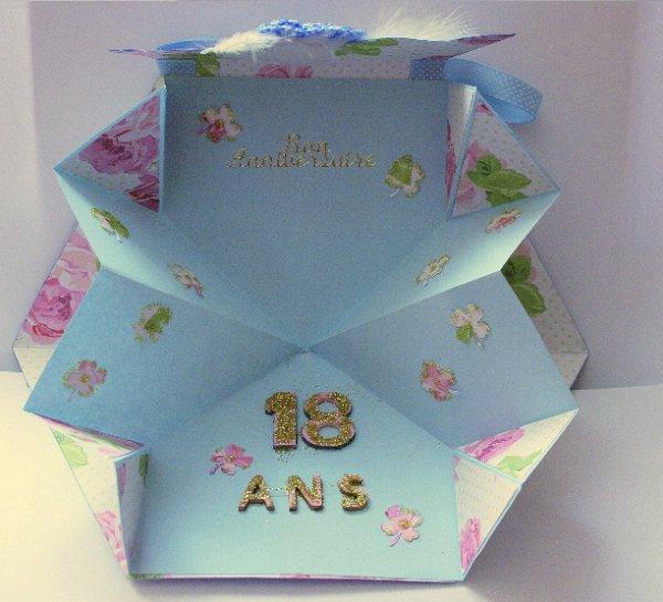 71 - Scrapbooking - carte sac à main - anniversaire