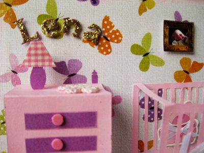 72 - Scrapbooking - Faire part de naissance (fille) pop up
