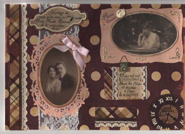 79 - Scrapbooking - Album photo héritage année 30