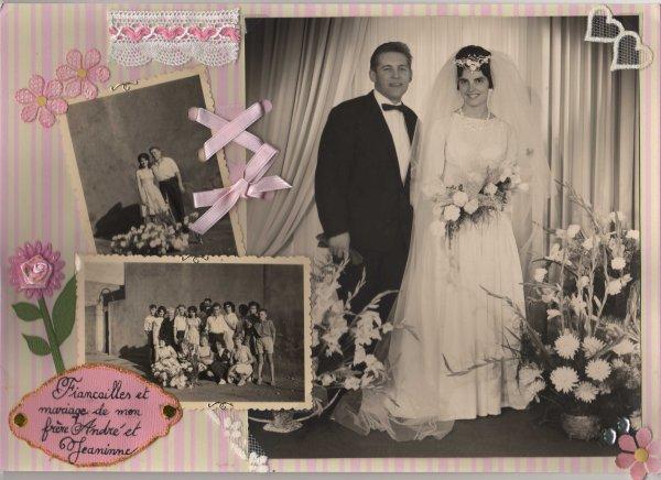 "80 - Scrapbooking - Album photo ""héritage"" mariage"