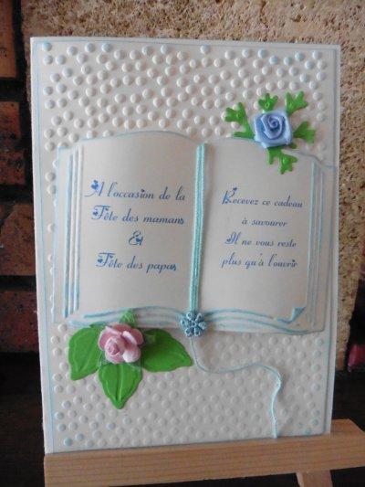 111 - Scrapbooking - Carte fête des mères carte fêtes des pères