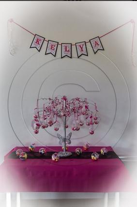 130 - Déco de mariage - Fanions pour une banderole