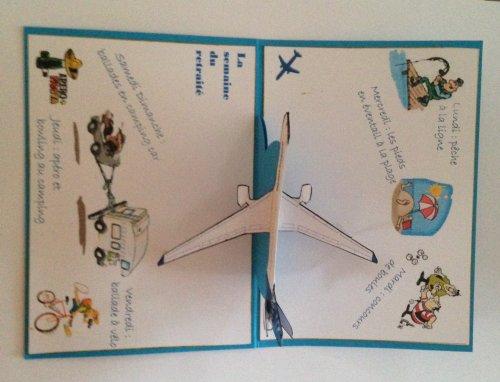 """138 - Scrapbooking - carte d'invitation """"départ à la retraite"""""""