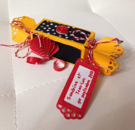183 - Scrapbooking - Boîte bonbon enfant thème Espagne